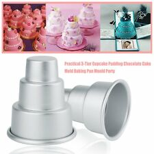 Practical 3-Tier Pudding Chocolate Cake Mold Baking Pan Mould Party AU