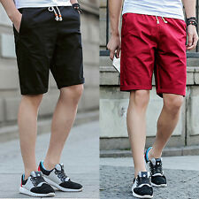 Men's Casual Cotton Pants Baggy Shorts Pockets Cargo Short Pants Trousers