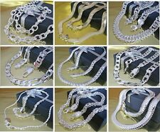 Curb Chain Necklace Anchor chain King's chain Figaro chain etc. Silver plated