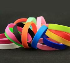 New Fashion Unisex Candy Color Rubber Silicone Wristband Sport Bracelets Band