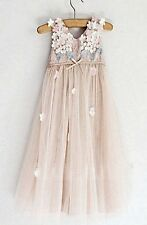 Girls Pale Pink Party Dress - 2-5 Years