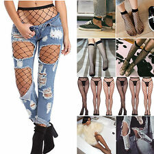 Fashion Women's Fishnet Knee / Ankle Socks Hoise Pantyhose Tights Black One Size