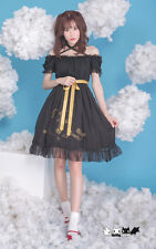 Sweet Japanese Harajuku Gothic Lolita Strapless Off Shoulder White Dress