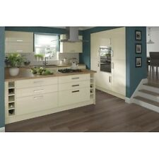 VALENCIA CREAM HIGH GLOSS SHAKER STYLE KITCHEN CABINETS WITH DOORS AND HANDLES