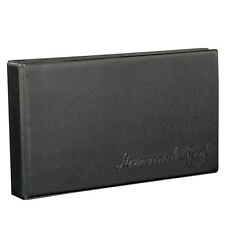 Business PU Leather Journal Name Card Book Holder for 120/180/300  cards, Black