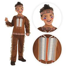 Boys Chief Native American Red Indian Wild West Book Week Fancy Dress Costume