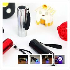 Bigsell 9 LED Aluminum Portable Flashlight Ultra Violet Torch Light Lamp @6