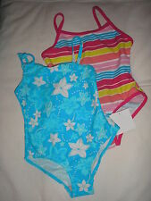 BRAND NEW GIRLS 2 SWIMMING COSTUMES AGE 3  YEARS OLD BNWT