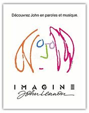 Imagine John Lennon Vintage Film Movie Poster Art Poster Print Giclée
