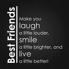 BEST FRIENDS vinyl wall art sticker saying words mural home deco quote family