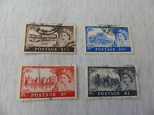 SET OF 4 X CASTLES BRITISH STAMPS IN VERY GOOD CONDITION ISSUED 1955