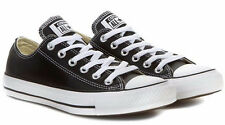 CONVERSE CT 132174C OX LEATHER -  BLACK WHITE UNISEX TRAINERS