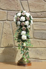 Beautiful Brides Foam Ivory Rose Shower Bouquet, All Colours, Wedding Flowers