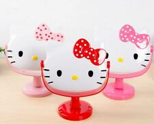 New 1pcs Hello Kitty Stand Cosmetic Mirror Make Up Mirror Pink White with dots