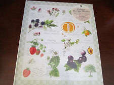 New Seasons Deluxe Recipe Binder Organizer Keeper~ New & Sealed ~ Fruits Flowers