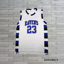 Nathan Scott 23# One Tree Hill Ravens Basketball Jersey Sewn White S-2XL