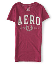 Aeropostale T-Shirt Women's Slim Fit Applique Logo Tee Top M or L Magenta NWT