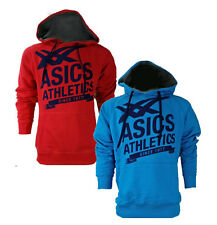Asics Mens Athletic Hoody Hoodie - Red or Blue - Sizes M-XXL