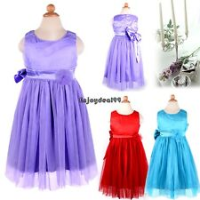 Summer Kids Girls Sleeveless Dresses Net Yarn Lovely Princess Dress OO5501