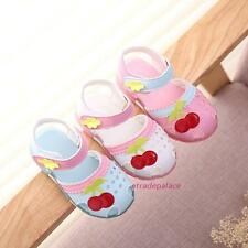 New Summer Children Toldders Baby Kids Girls Sweet Cherry Closed-toe Sandals