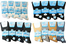 MENS 12prs NON ELASTIC SEAM FREE TOE EASY GRIP DIABETIC COTTON SOCKS 4 COLOURS