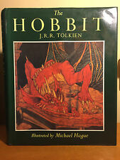 J.R.R. Tolkien - The Hobbit - 1984 UK Illustrated Edition 1st/1st thus, HC/DJ