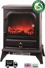 NEW! 2000W LOG BURNER FLAME EFFECT ELECTRIC FIREPLACE STOVE HEATER