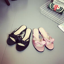 Women Bow Slide Flats Open Toe Slippers Sandals Casual Summer Shoes Fashion