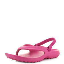 Girls Kids Crocs Classic Flip Candy Pink Iconic Sandals  Shu Size