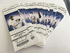 2011 New York Yankees Full Tickets YOU PICK ONE GAME Derek Jeter Mariano 2 of 2