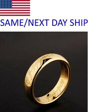 Tungsten Carbide Lord of the Rings LOTR  Laser Engraved One Ring  Band Ring