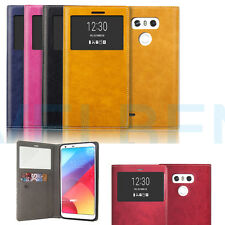 For LG G6 Case Quick Cover Auto window on off Flip Wallet Case Cover