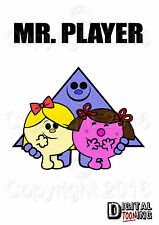 Mr Player - Novelty / Mr Men T-Shirt - Tee shirt - lads holiday - stag party