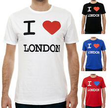 I LOVE LONDON Heart / Mens, White, Black, Red, Navy, T-Shirt