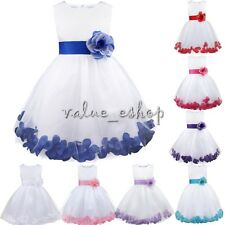 NEW VINTAGE ROSE PETAL WEDDING BIRTHDAY PARTY PAGEANT FLOWER GIRL PRINCESS DRESS