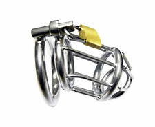 Sexy New Mens Stainless Male Chastity Cage Device Belt Restraint Lock Bondage