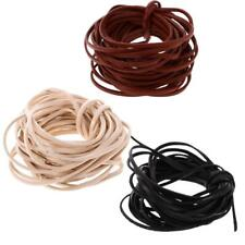 5 Meters 3mm Flat Leather Cord For Beading Jewelry Making DIY Craft String
