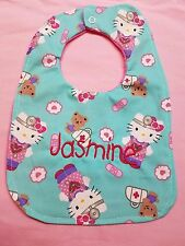 New Handmade Baby Bib Hello Kitty Let's Play Doctor Personalized Name Choice