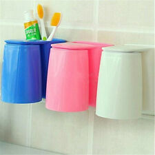 1Pcs Wash Cup Tooth Mug Magnetic Gargle Suit Wall Mount Stand Toothbrush Holder