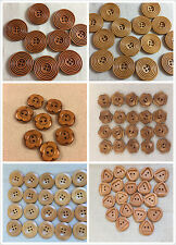 pack of 10 large coat buttons wooden craft buttons  20mm to 30mm
