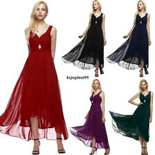 ANGVNS Women Sleeveless Ruched Chiffon Maxi Cocktail Party Evening Fromal OO5501