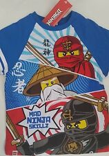 LEGO NINJAGO Licensed Boy tee t shirt top cotton NEW sizes 4-7