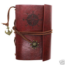 Classic Vintage Nautical Journal Diary Notebook PU Leather Bound Cover gift