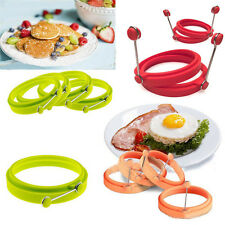 Silicone Omelette Pancake Poach Mould Ring Fried Egg Shaper Kitchen Tools
