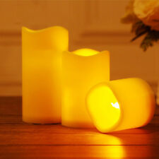 Romantic Flickering Flameless Resin Pillar LED Candle Lights with 6 Hour Timer
