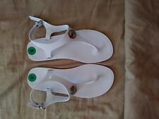 NEW MICHAEL KORS WHITE JELLY SANDALS Size 8M