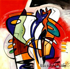 Home Decor Modern hand-painted Music abstract oil painting on canvas (no framed)