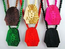 Hip-Hop Good Wood Last Kings Rosary Necklace Pendant Chain Necklace