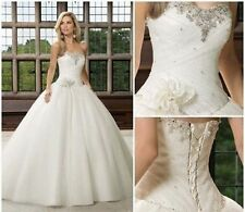 New White / ivory Wedding Dresses Bride Dress Gown stock Size 6-8-10-12-14-16