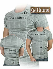 T-shirt John Galliano 100% Originale T-shirt Men Man Man New Collection